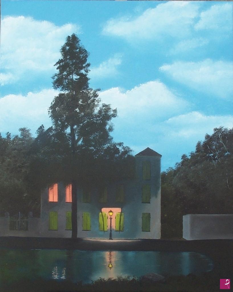 L Impero Delle Luci Magritte.Quadro L Impero Delle Luci Franco Piero Azzini Pitturiamo