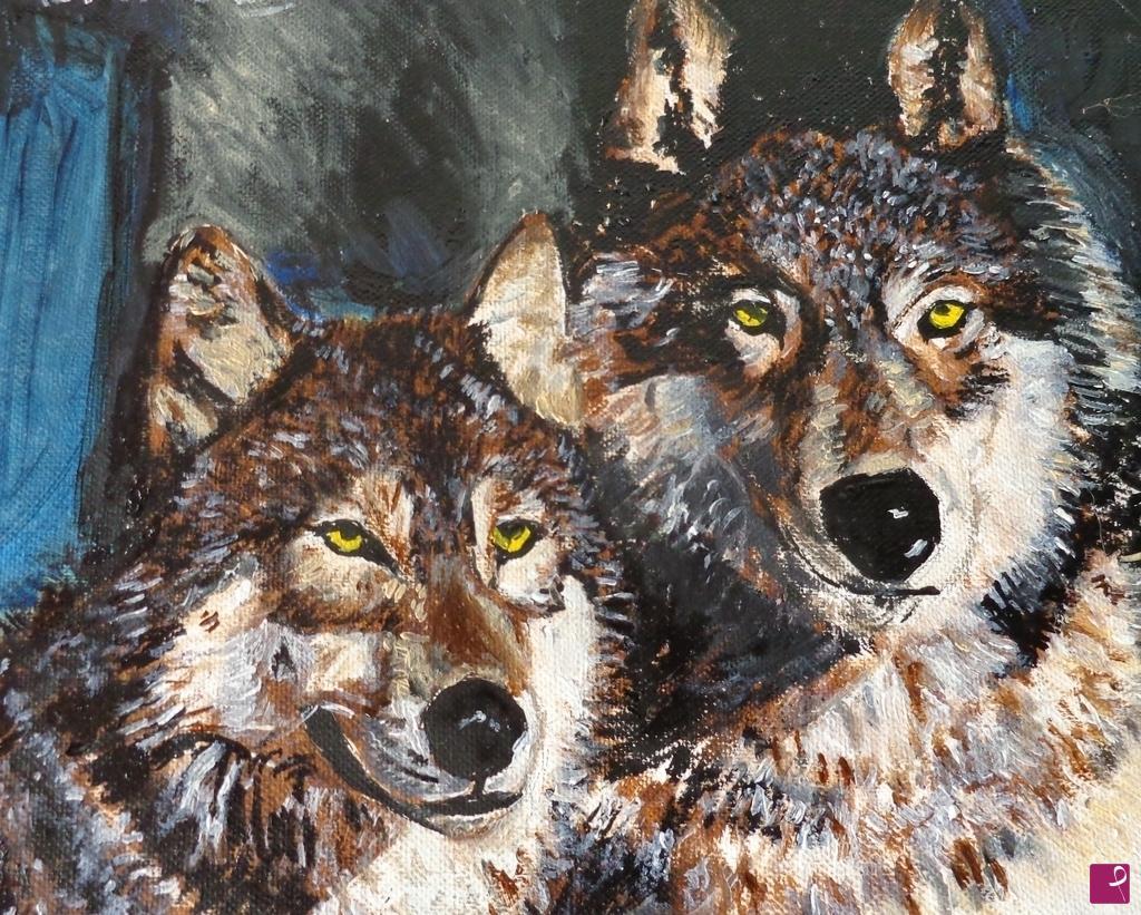 Vendita quadro l lupi vivi pitturiamo for Vendita carassi vivi