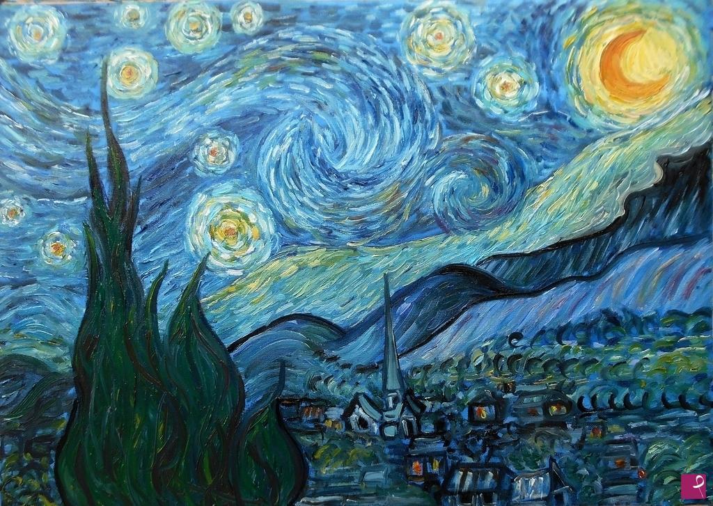 Vendita quadro la notte stellata van gogh 1889 for La notte stellata vincent van gogh