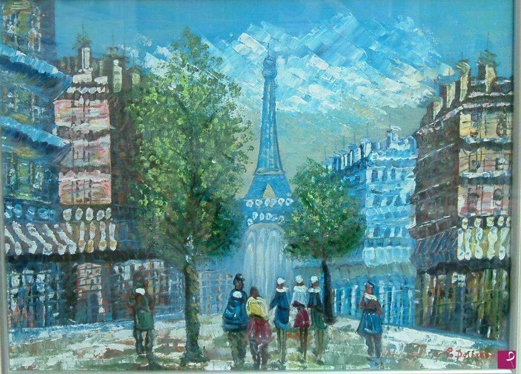 Vendita quadro la vecchia parigi dolores colombo for Quadri di parigi