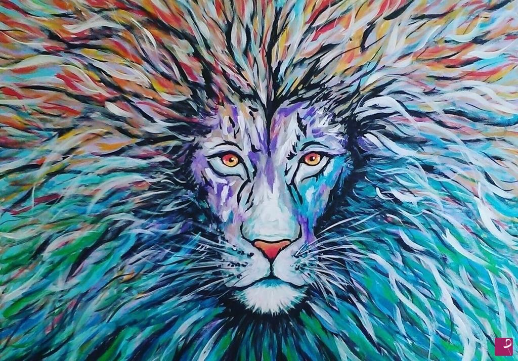Vendita quadro lion nina rapicavoli pitturiamo