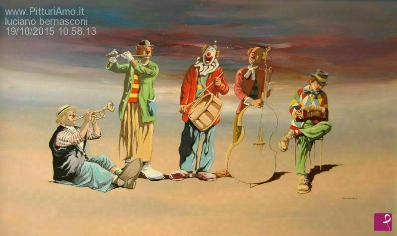 Vendita quadro l orchestra luciano bernasconi pitturiamo
