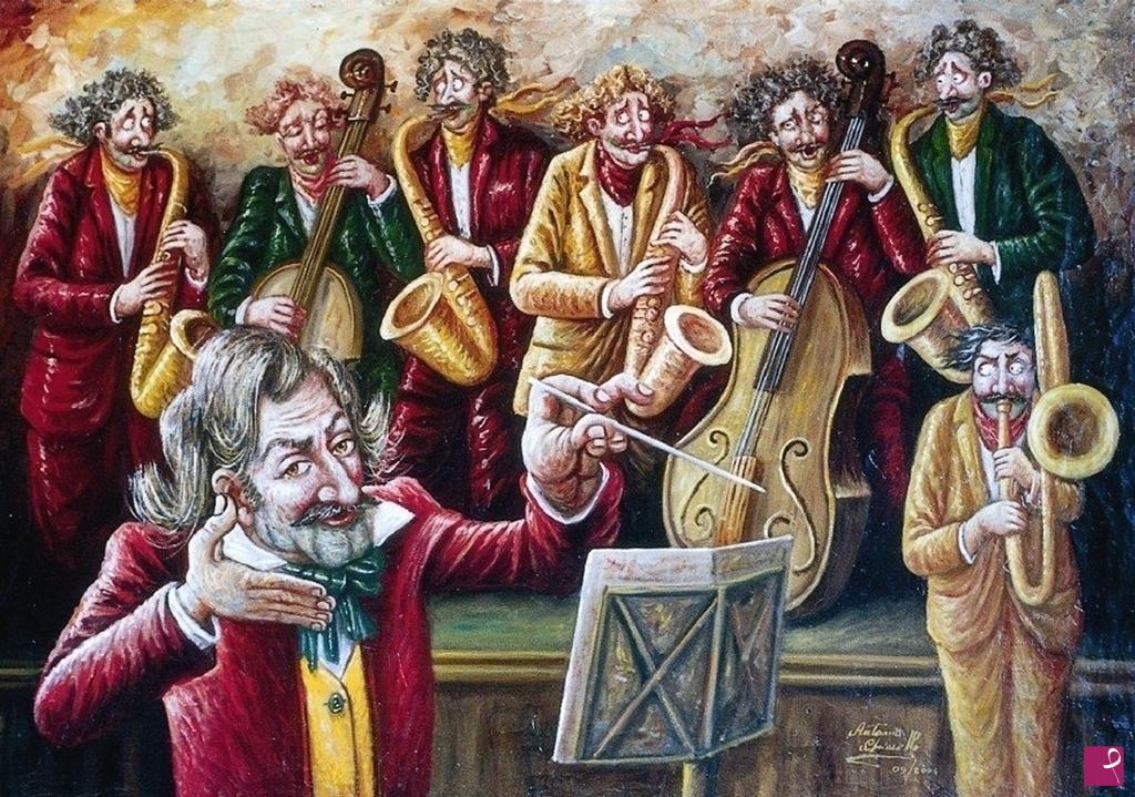 Vendita quadro l orchestra e il suonatore antonio chiarello