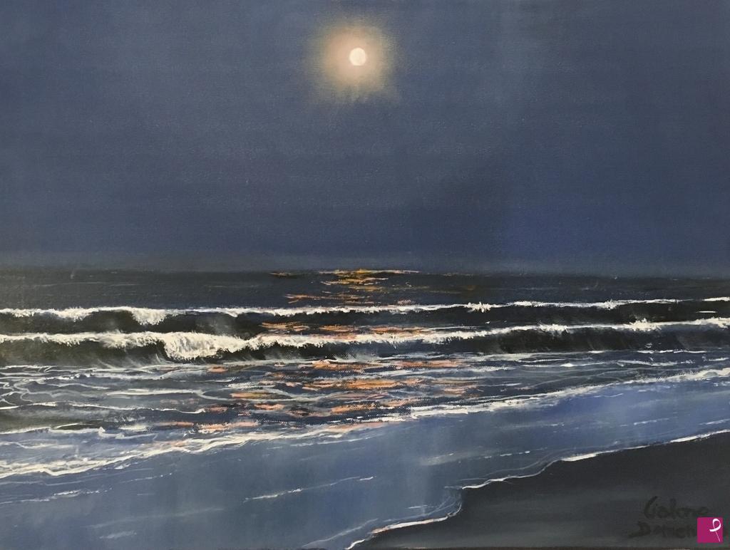 Vendita Quadro Luna Sul Mare Domenico Cialone Pitturiamo