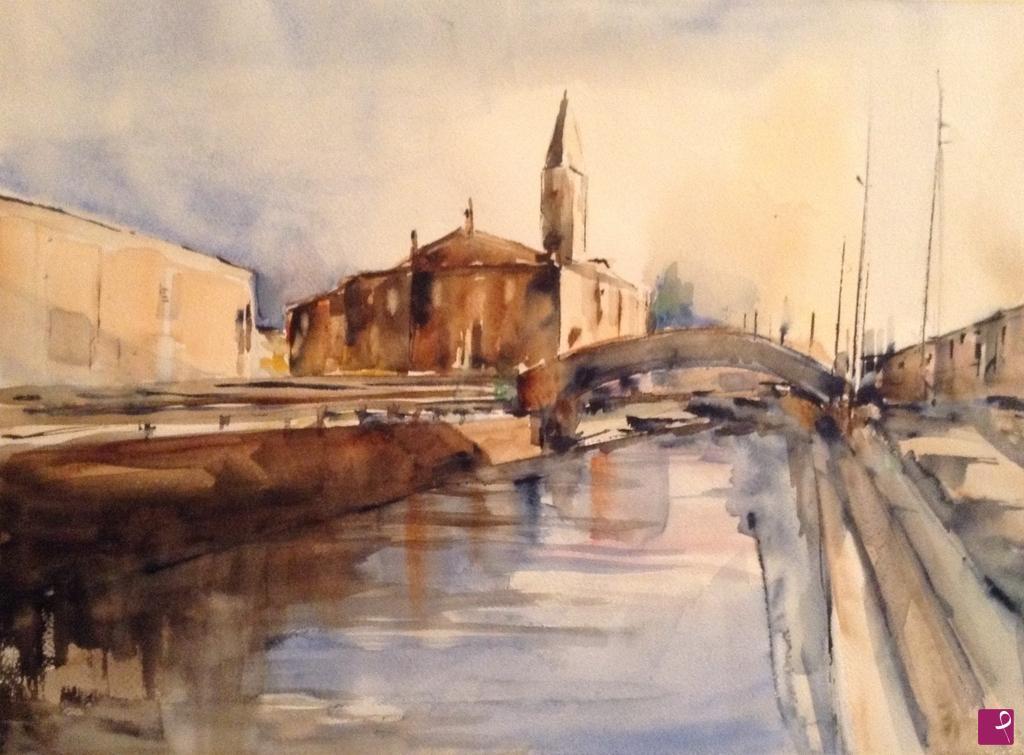 Vendita quadro - Lungo il Naviglio - Milano - Walter Barbaglia ...