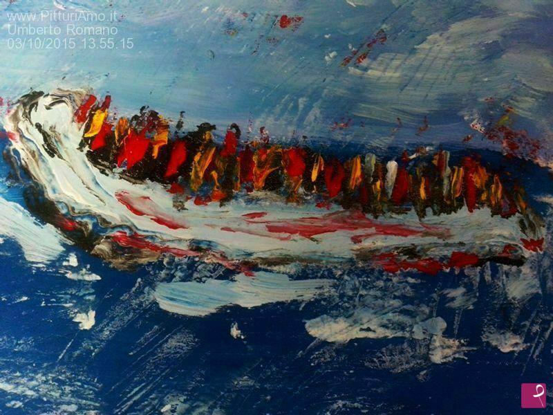Vendita quadro maree di speranza umberto romano pitturiamo