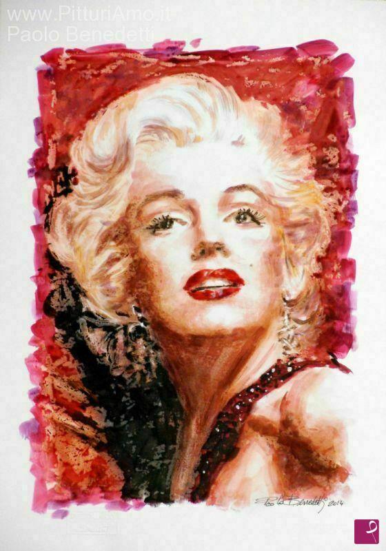 Vendita quadro - Marilyn Monroe - Paolo Benedetti | PitturiAmo®