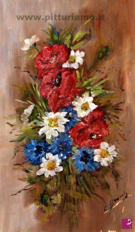 Vendita quadro mazzo di fiori di campo bramby for Quadri fiori olio