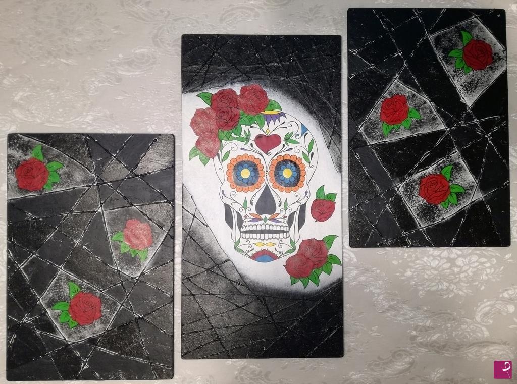 Vendita quadro messicanskull lbb art pitturiamo