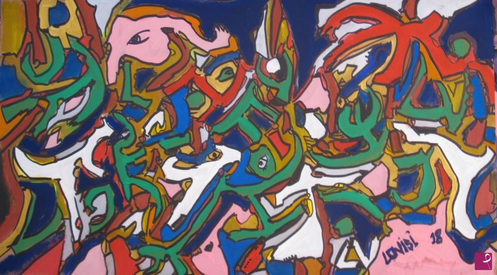 Vendita quadro music blood grande astratto pittura su tela