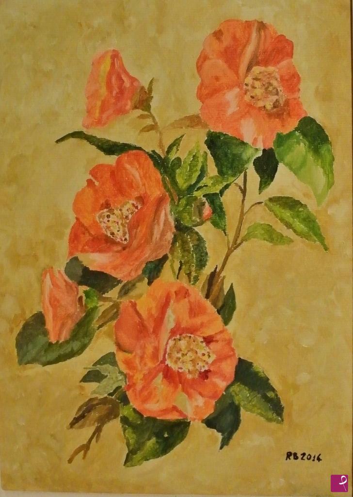 Vendita quadro motivo floreale roberto brocchi pitturiamo