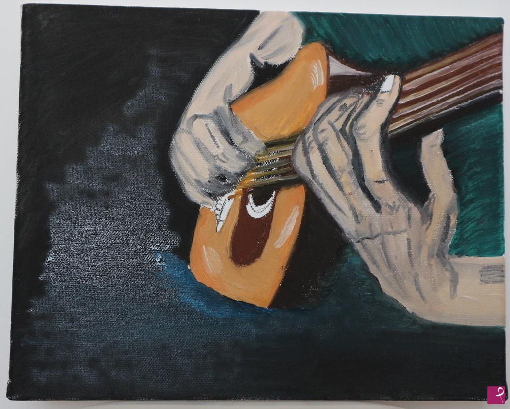 Vendita quadro my sweet guitar martina usai pitturiamo