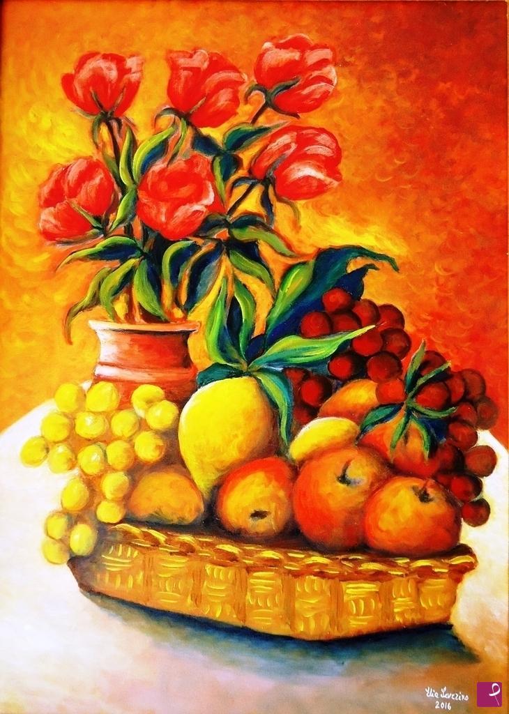 Vendita Quadro Natura Morta Con Cesto Di Frutta Severino Elia