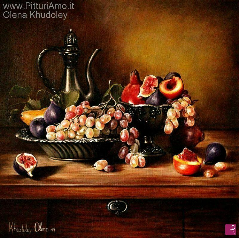Vendita quadro - Natura morta con uva - Olena Khudoley | PitturiAmo®