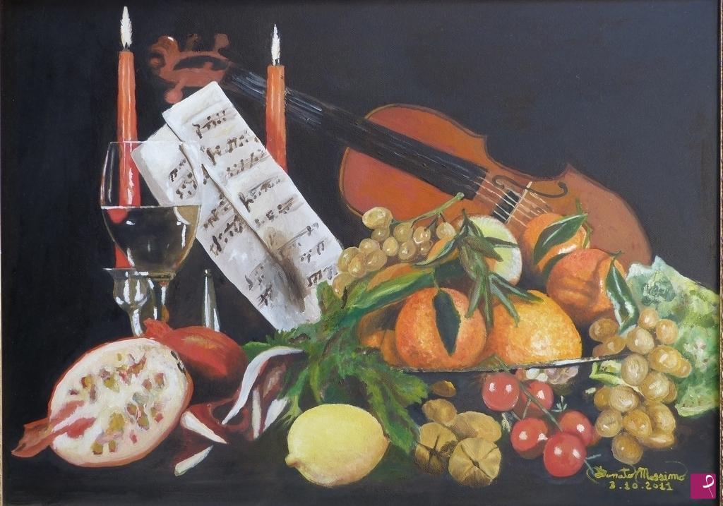 Vendita quadro - Natura Morta Con Violino - Massimo Donato ...