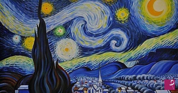 Vendita quadro notte stellata salvatore asaro for Dipinto di van gogh notte stellata
