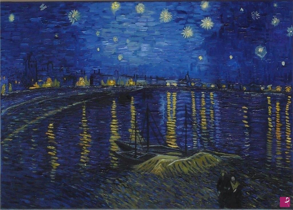 Vendita quadro notte stellata sul rodano francesca for La notte stellata vincent van gogh