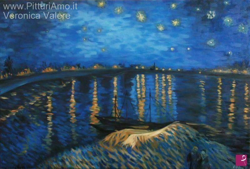 Vendita quadro notte stellata sul rodano copia di for La notte stellata vincent van gogh
