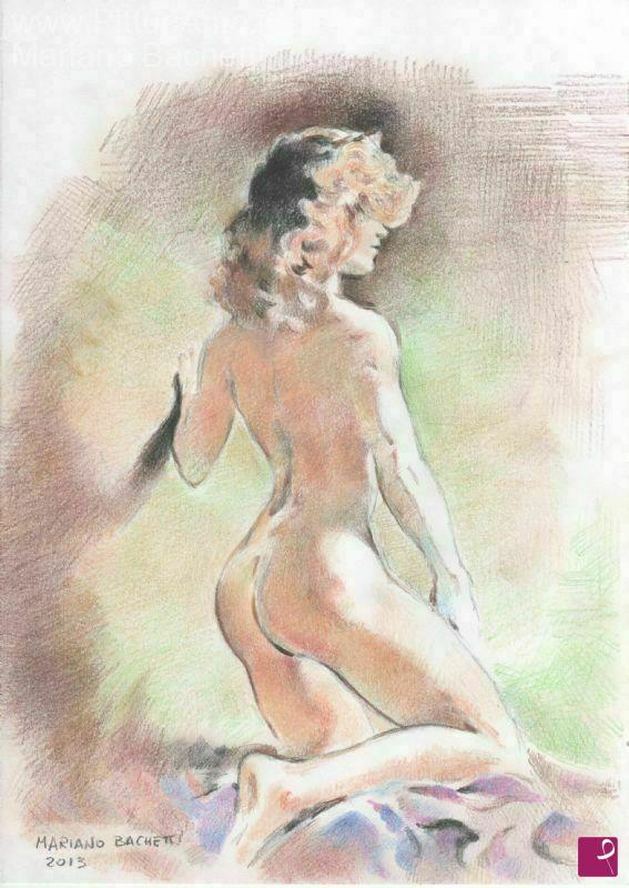 Vendita quadro - Nudo di Donna 2 - Mariano Bachetti | PitturiAmo®