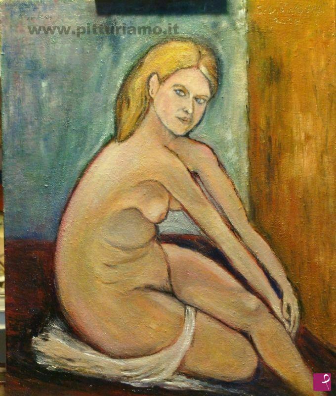 Vendita quadro - Nudo di donna - Silvio Attilio Daroczi | PitturiAmo®
