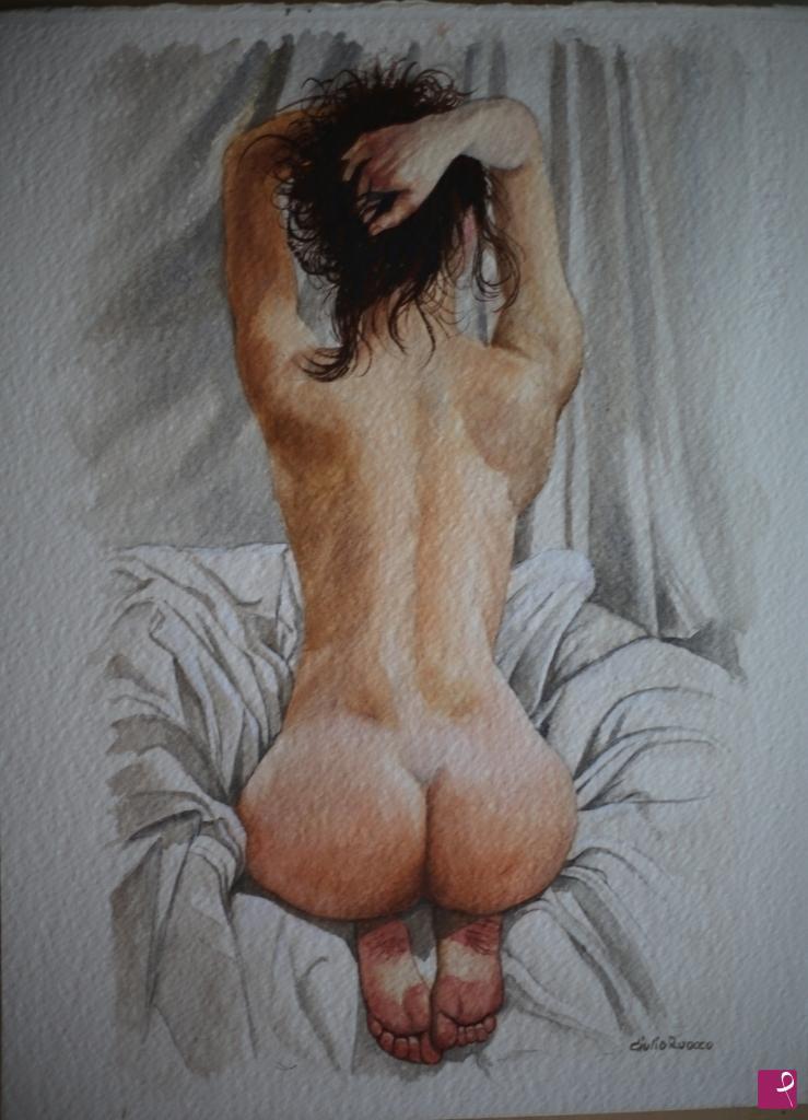 Vendita quadro - Nudo di spalle - Giulio Ruocco   PitturiAmo®