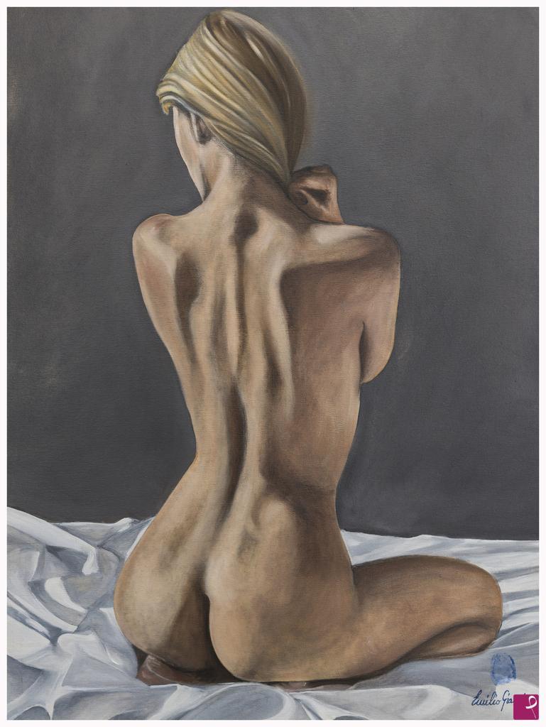 Vendita quadro - Nudo di spalle - Emilio Gianni | PitturiAmo®