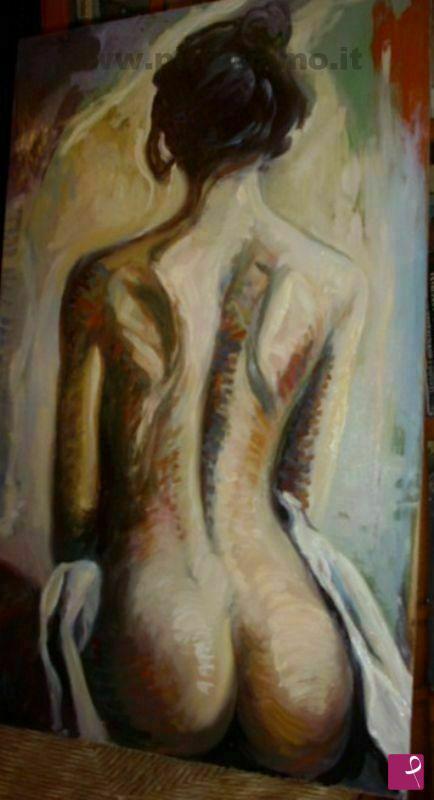 Vendita quadro - nudo di spalle donna - Andrea Marra | PitturiAmo®