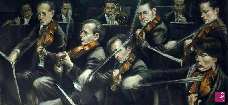 Vendita quadro orchestra sandro giordano pitturiamo