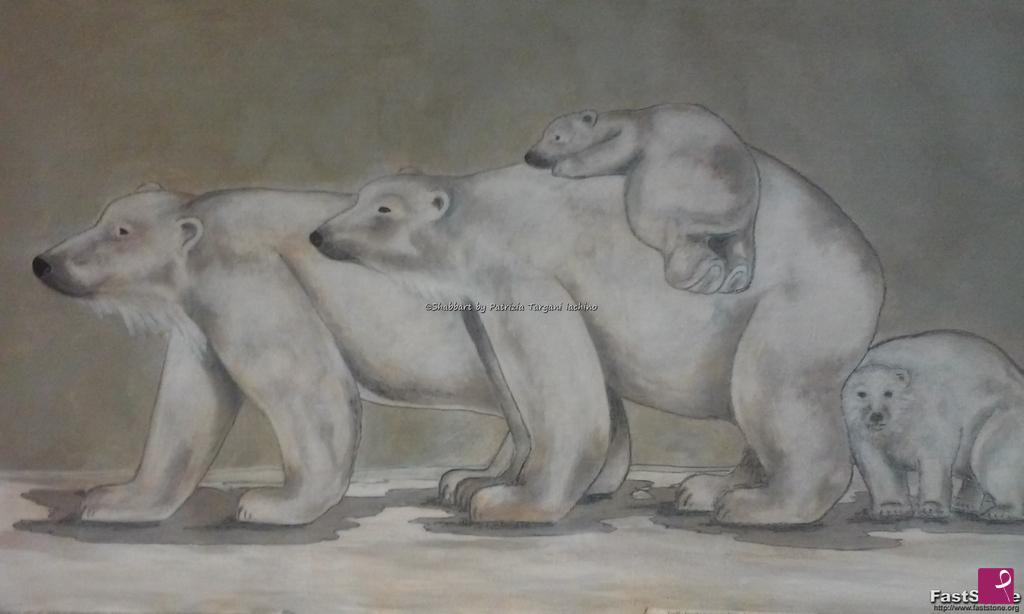 Vendita quadro orsi bianchi patrizia targani iachino pitturiamo