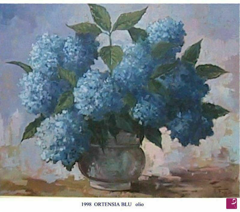 Vendita quadro ortensia blu remo faggi pitturiamo - Ortensia blu ...