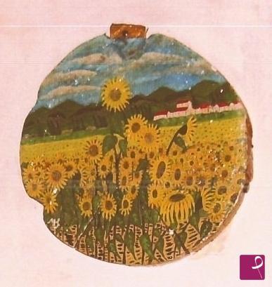 Vendita quadro - Paesaggio con campo di girasoli - Samoa-art ...