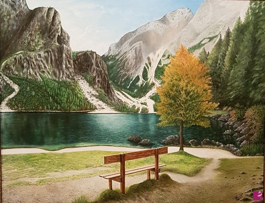 Norway Vendita Quadro Paesaggio Di Montagna Giacomo Ianniello