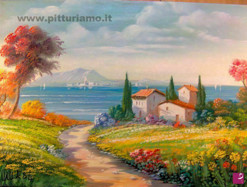 Quadri paesaggi olio su tela pittori del novecento for Moretti foggia pittore