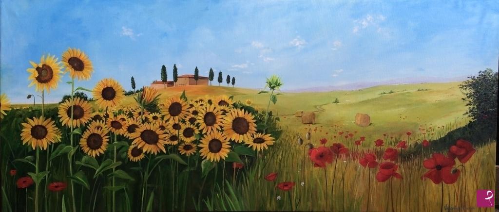Vendita quadro - Paesaggio toscano - Valentina Franchi | PitturiAmo®