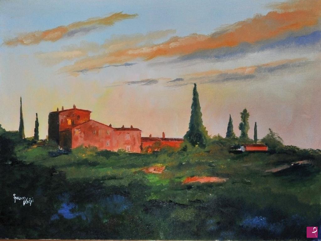Vendita quadro - Paesaggio toscano - Franco Volpi | PitturiAmo®