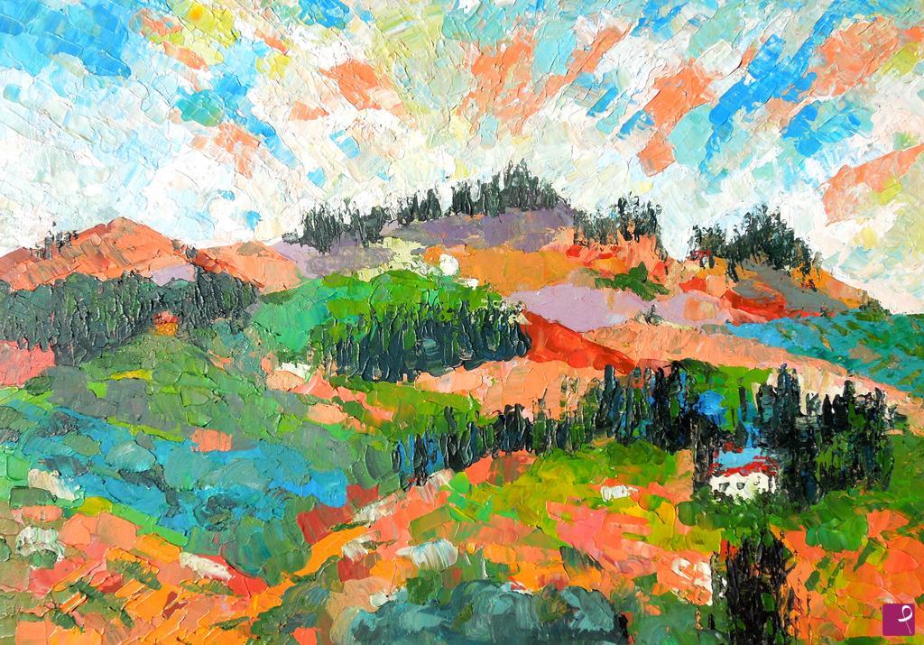Vendita quadro - Paesaggio toscano - Gloria Romagnoli | PitturiAmo®