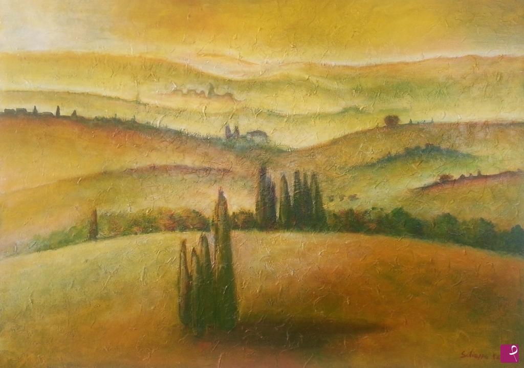 Vendita quadro - Paesaggio Toscano - Fiorella Schiappa   PitturiAmo®