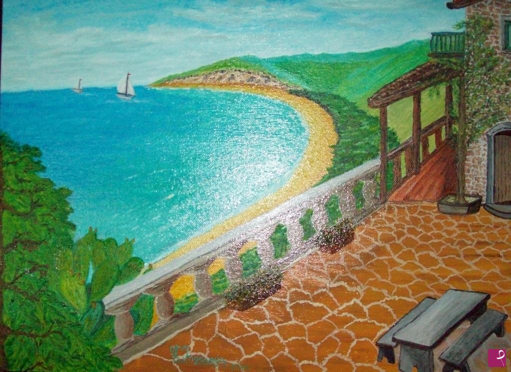 Vendita quadro - panorama dalla terrazza - Vincenzo Ingrassia ...
