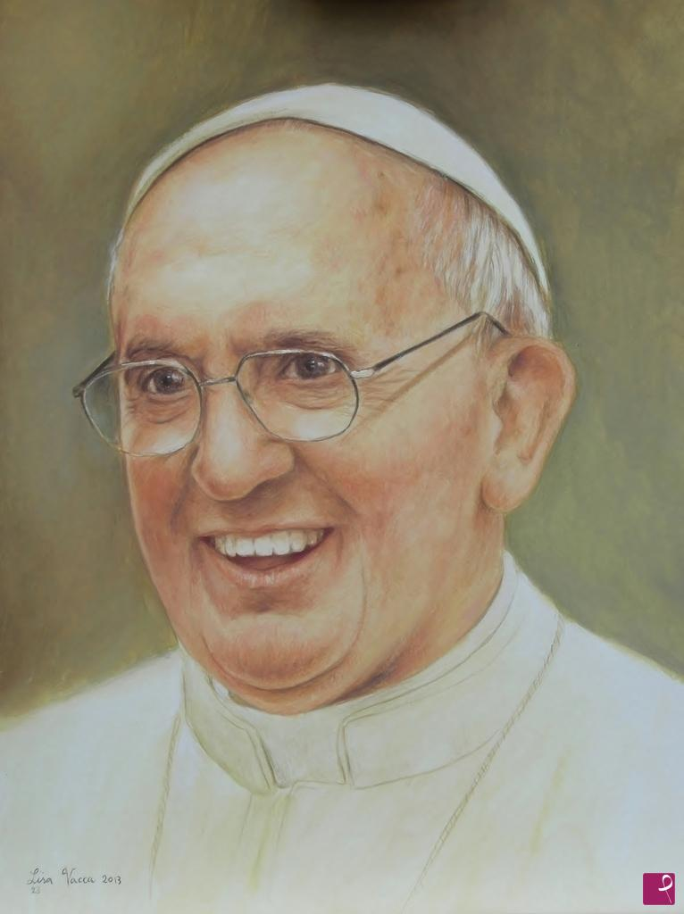 Disponibile Quadro Papa Francesco Elisabetta Vacca Pitturiamo