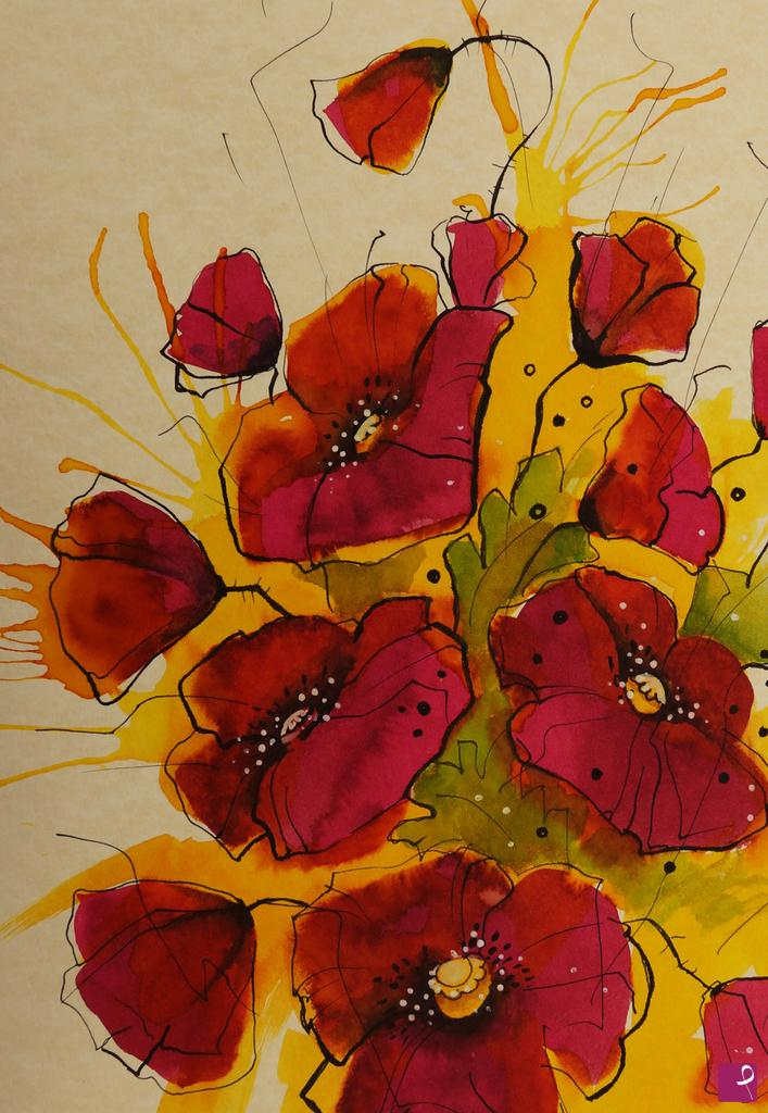 Vendita quadro - papaveri rossi - Natalia Khromykh | PitturiAmo®
