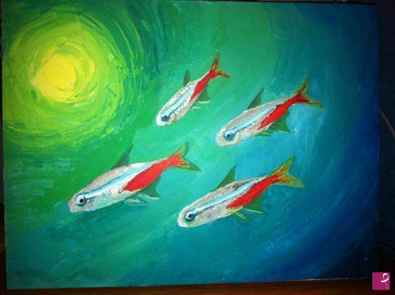 Vendita quadro pesci dora cristina martinez pereira for Vendita pesci on line