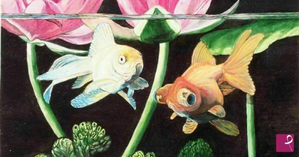 Vendita quadro pesci rossi maurizio giglio pitturiamo for Vendita pesci rossi on line