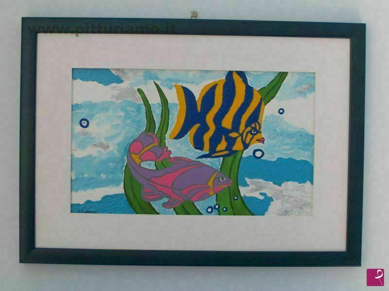 Vendita quadro pesci tropicali sabina cimitile cortese