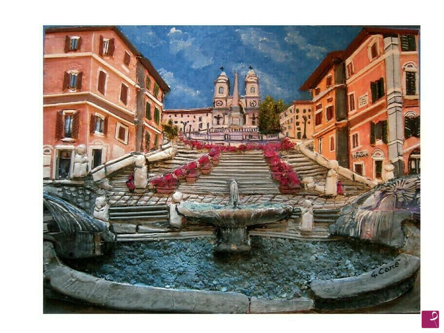 Vendita quadro piazza di spagna roma giuseppe care for Di giuseppe arredamenti roma
