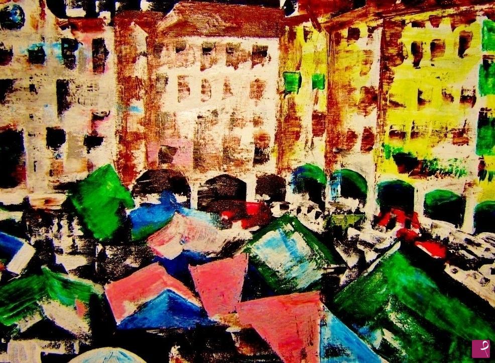 Vendita quadro piazza matteotti udine gianna liani pitturiamo