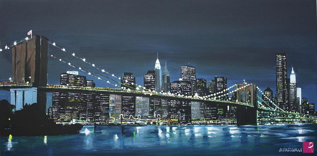 vendita quadro ponte di brooklyn massimo paravani