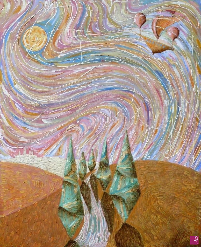 Quadro flusso di coscienza zen quadri