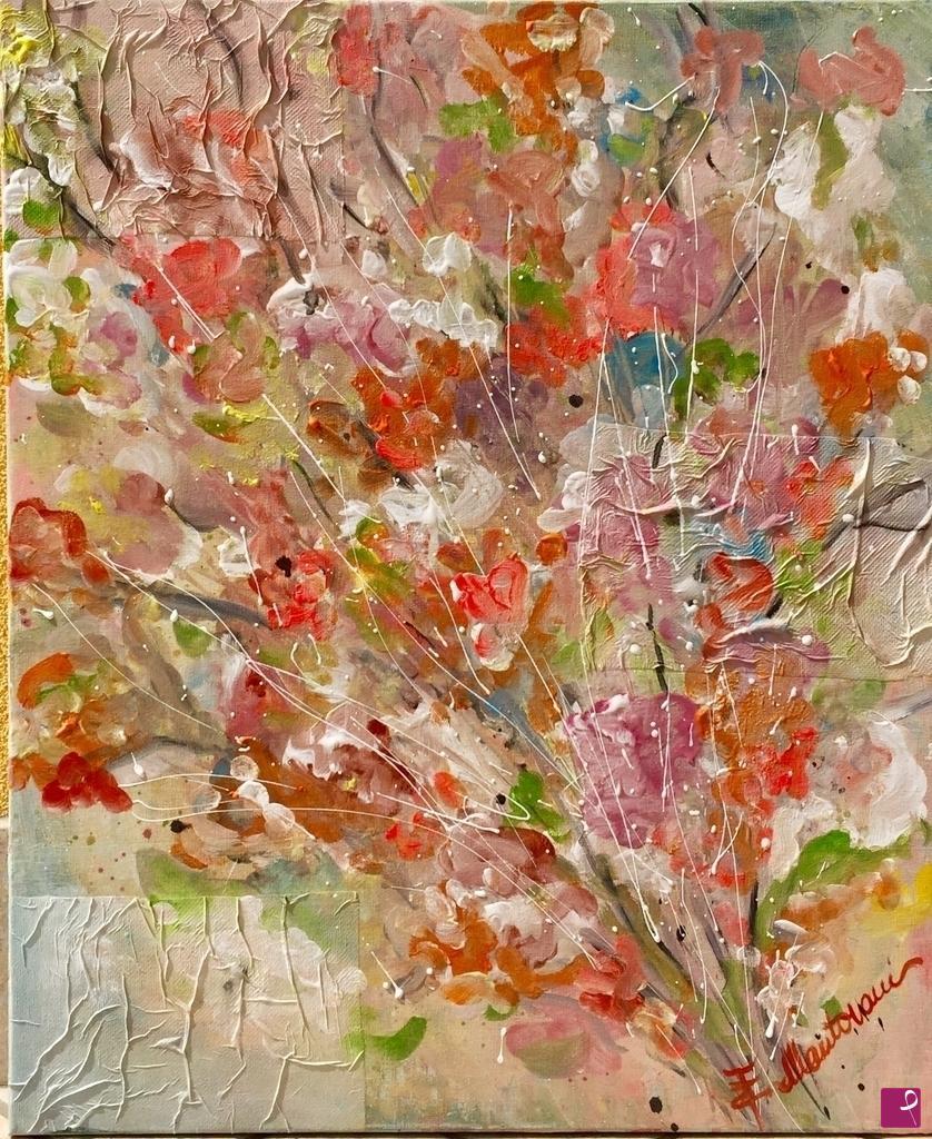 Vendita quadro - Quadro mazzo di fiori - Elisa Mantovani | PitturiAmo®