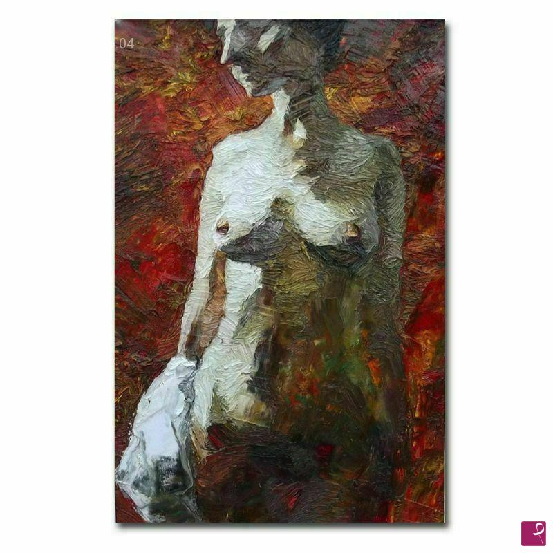 Vendita quadro - Quadro moderno, nudo femminile olio su tela - Lia ...