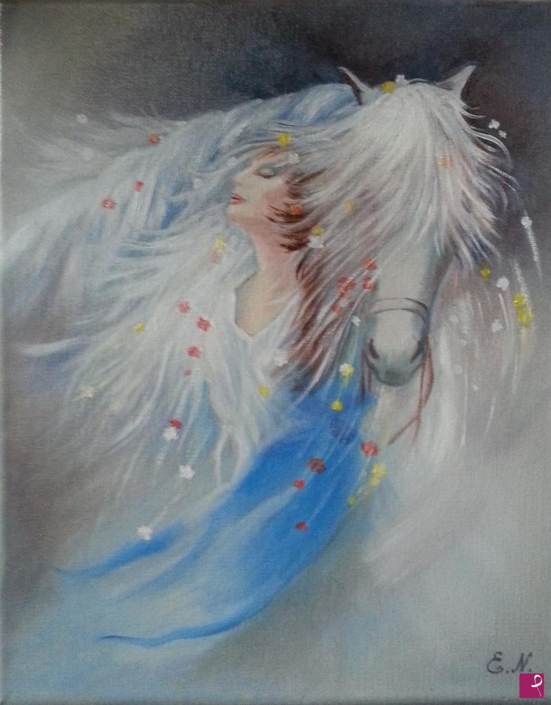 Vendita quadro - Ragazza con cavallo - Elena Novikova | PitturiAmo®